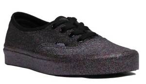 93b96c18674 Vans Rainbow Glitter Authentic Women Black Low Top Trainers UK Size ...