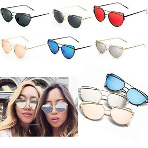 Unisex-Hombre-Mujer-Lentes-Espejadas-Montura-Metalica-Gafas-de-sol-gafas