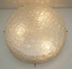 70er-Annees-Plafonnier-Applique-Murale-Lampe-Ice-Verre-Flushmount-3fl-LED