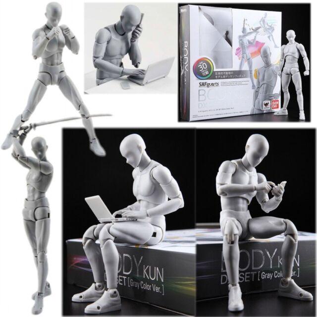 Body Kun DX Set Male Gray Color Doll PVC Figure Model SHF S H Figuarts Toy Gift