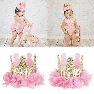 BL-FX-1st-Birthday-Glitter-Crown-Gauze-Flower-Headband-Babay-Girls-Photo-Prop