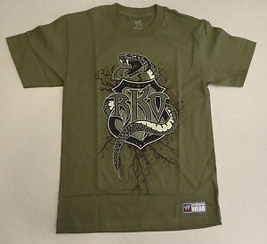 Orton Shirt Randy Reloaded Authentic Wwe Olive Green Mens T Recoiled 4jLRq35A