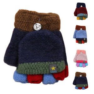 really comfortable on sale buying cheap Kids Toddler Winter Cute Gloves Boys Girls Half Finger ...