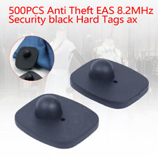500 Pcs Anti Theft Security Hard Tags Eas Clothing Black Anti Theft Tags With Pins