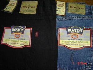 MENS-NEW-BOSTON-STRONG-TOUGH-WORK-CASUAL-WORK-JEANS-BIG-30-INCH-WAIST-FULL-FIT