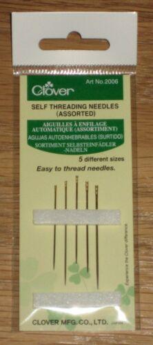 Clover No 2006 self-threading needles Selbsteinfädlernadeln