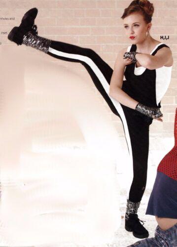 NWT Black //white inseam stripe Leggings Dance costume Kick pants chladies sizes