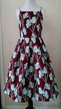 NWD Modcloth $129.99 Ritz and Wisdom Dress in Maroon XL Lace & Mesh Fit & Flare