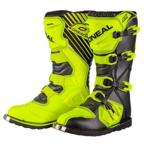 ONeal Rider Adult Mens MX Motocross Off Road Boots Neon Yellow UK 6.5