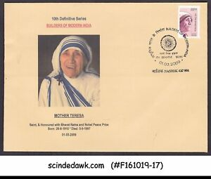INDIA-2009-MOTHER-TERESA-10th-DEFINITIVE-SERIES-BUILDERS-OF-MODERN-INDIA-FDC