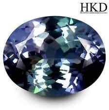 2.23 cts HKD-Certified Natural Oval-cut Bluish-Violet VVS Tanzanite (Tanzania)