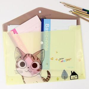 Image Is Loading Cat Pvc A4 File Folder Doent Filing Bag