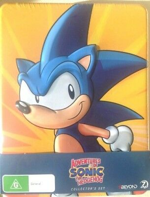 Adventures Of Sonic The Hedgehog Dvd 2013 7 Disc Set Metal Case Edition Ebay