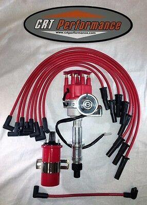 PONTIAC 350-389-400-455 SMALL CAP HEI DISTRIBUTOR SPARK PLUG WIRES 60K COIL