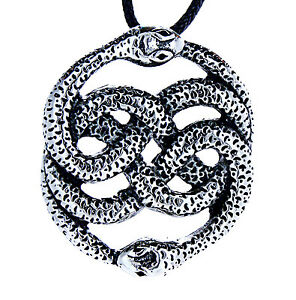 Snakes pendant Made of Stainless Steel Curb Chain / Band, Serpent Auryn 19 A