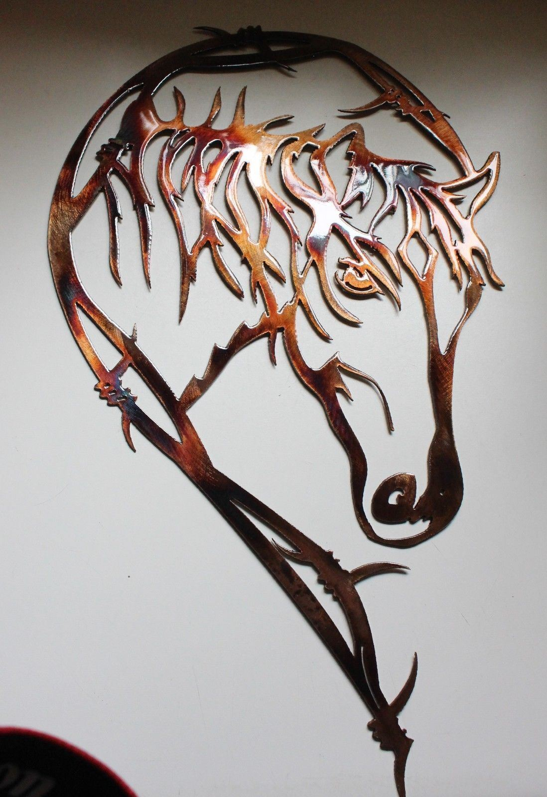 Stacheldraht Pferdekopf Metall Wandkunst Dekor 21   X 12 12 12 1.9cm   Deutschland Shops  94f8fb