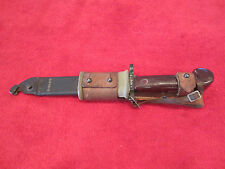 Russian/Bulgarian Type 2 Bayonet Matched Numbers W/Leather Frog W/Wrist Strap