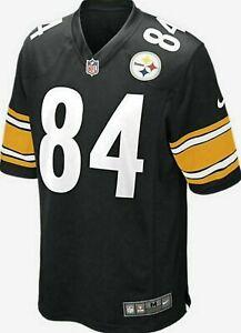Nike Men's Antonio Brown Pittsburgh Steelers Game Jersey Home Black NFL size M