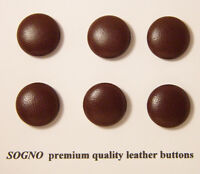 6 Made In Usa Genuine Soft Premium Leather Buttons18 Mm(11/16 Inch), Metal Loop