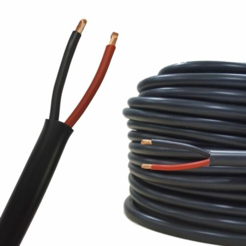 10m 0.5mm 2 Core Round Twin Automotive Cable Wire Auto Wiring Loom ...