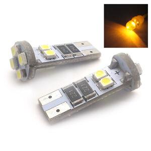FITS-JAGUAR-KIA-PORSCHE-2X-AMBER-8-SMD-LED-SIDE-LIGHT-W5W-T10-501-SJSR1016A