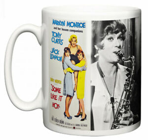 "Marilyn Monroe Mug ""Classic Hollywood Movie Poster Some Like it Hot"" Coffee Gift"