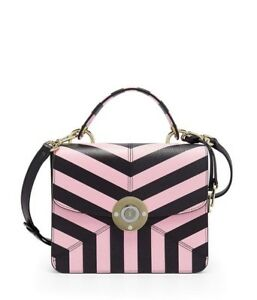 Image is loading Henri-Bendel-MILLINER-TOP-HANDLE-CHEVRON-SATCHEL-NWT 09178a107c00a