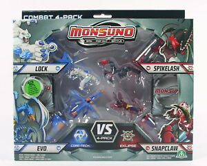 MONSUNO-vs-4-pack-LOCK-EVO-SPIKELASH-SNAPCLAW-action-figures-toys-NEW