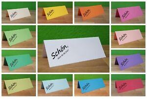 30  Edle Tischkarten im Vintage Stil für Hochzeit//Geburtstag natur 4cm x 5,6cm