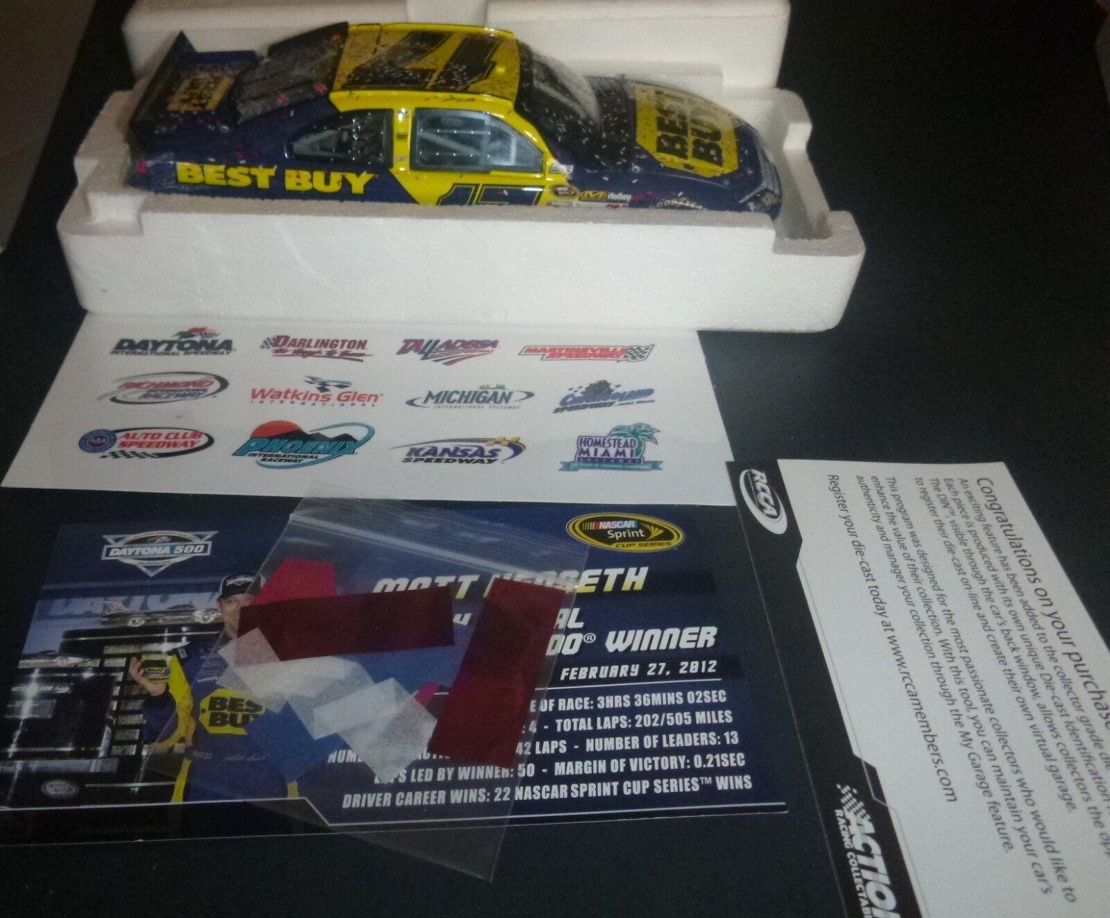ahorra hasta un 70% 2012 Acción Mate Kenseth 17 Ford Fusion Fusion Fusion Mejor Compra Daytona Ganador Fusion 1 24  tienda en linea