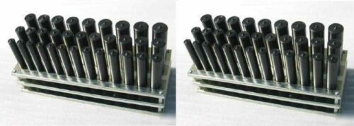 "2 SETS 33 PCS TRANSFER PUNCH 1//2/""-1/"" BY 64th"
