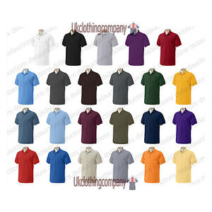 Gildan-Ultra-100-Cotton-Plain-Pique-Polo-T-Shirt-Mens-tops-S-M-L-XL-XXL