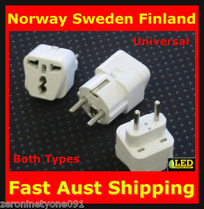 Image Is Loading Aus Nz To Norway Sweden Finland Plug