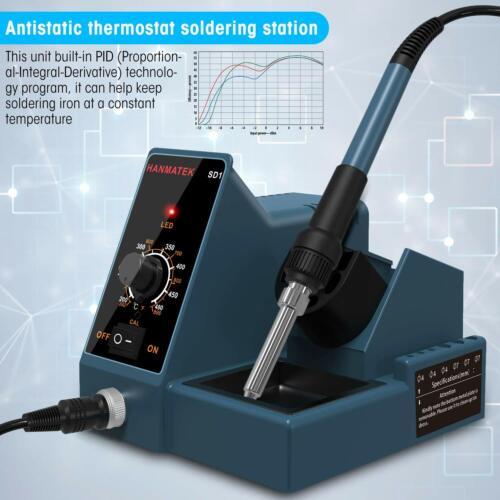 Soldering Station Solder Iron Kit Temperature Adjustable 6 Seconds Rapid Heating