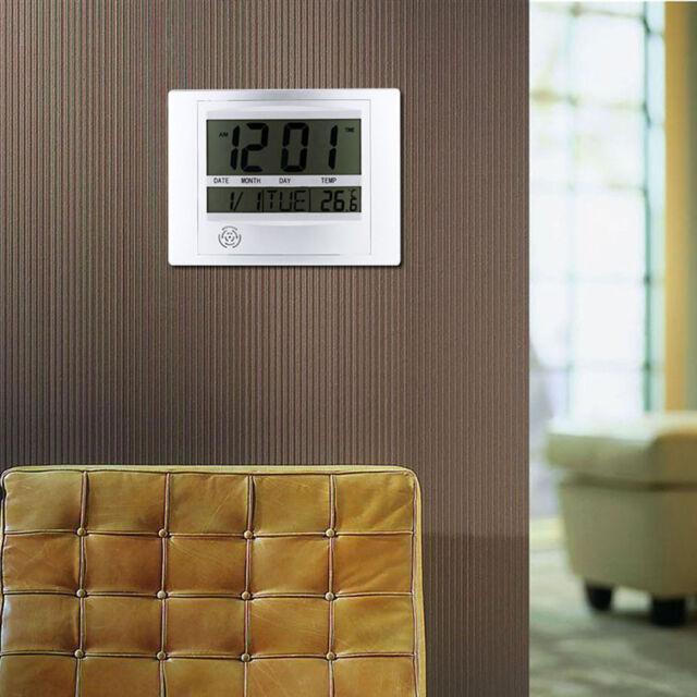 NEW LCD Digital Temperature Meter Thermometer Desktop/Wall Clock OC