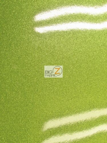 VINYL FAKE LEATHER UPHOLSTERY SPARKLE GLITTER FABRIC//Lime Green//SOLD BY THE YARD
