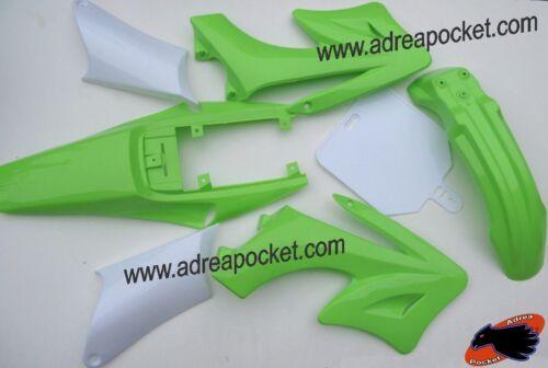 Kit Plastique Vert Clair Carénage Dirt bike type AGB27