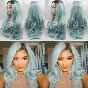 Heat-Resistant-Hair-Ombre-Wig-Synthetic-Lace-Front-Black-To-Baby-Blue-Cosplay