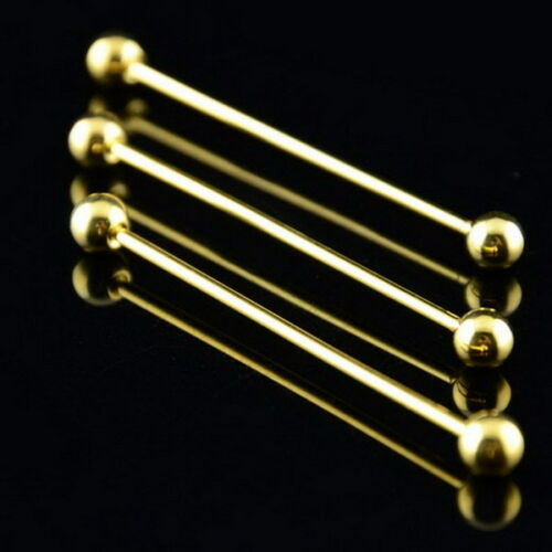 Camisa Para Hombre Corbata De Barra De Cuello Pin Corbata Clip de oro 5.5cm Plata Broche muchachos Regalo UK