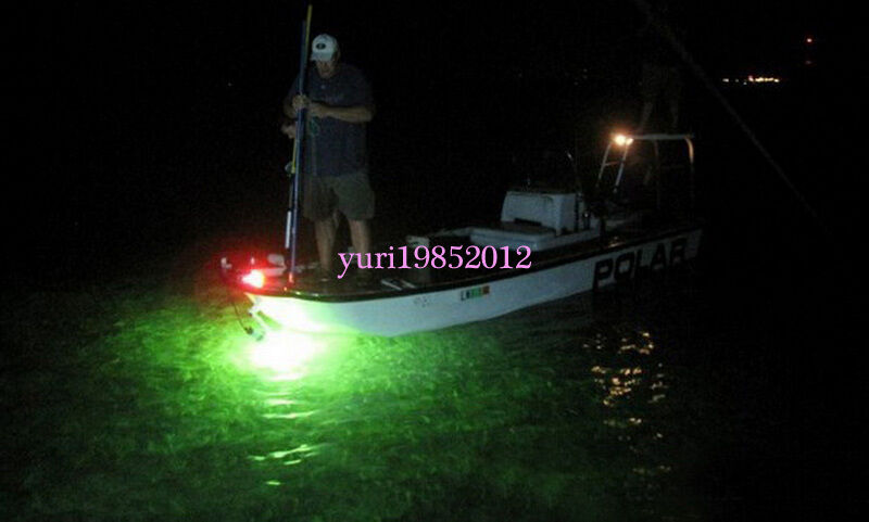 12v led green underwater squid fishing light lure for Night fishing lights for boats