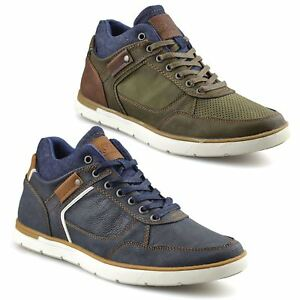 Mens-Casual-Lace-Up-Walking-Hiking-Sports-Mid-Ankle-Trainers-Boots-Shoes-Size