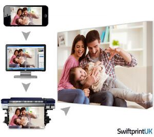Personalised Canvas Print Your Photo Pictures, Scratch Resistant EcoSolvent Ink