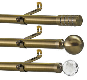 28mm Extendable Metal Curtain Pole With Adjustable Flexi