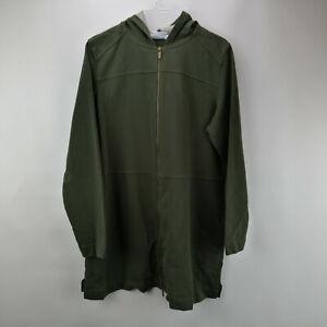 Denim-amp-Co-Regular-Comfy-Knit-Denim-Zip-Front-Jacket-True-Olive-M-A349710