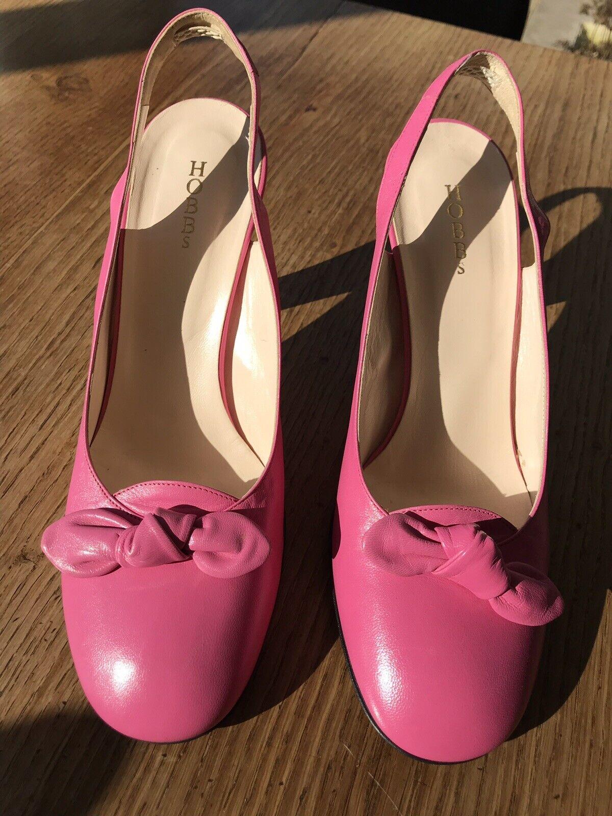 Women's HOBBS bubblegum pink sling back shoes, size 40 UK7
