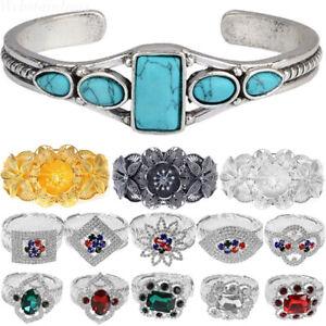 Frauen-Silber-Gold-Strass-Armreif-Armbaender-Armband-Modeschmuck-Bracelet-Geschen