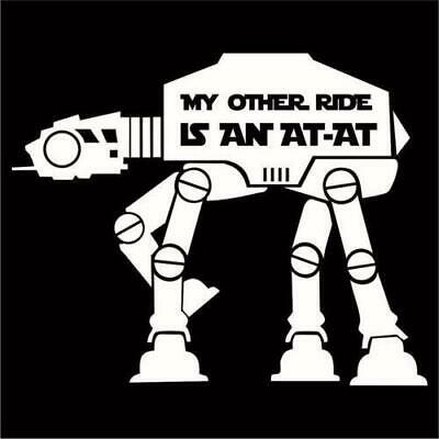 QUALITY BLACK STAR WARS EMPIRE DOESN/'T CARE BUMPER STICKER £7.50 RRP
