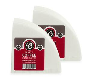 200 size V01 white coffee filter papers, V shaped, compatible with Hario V60