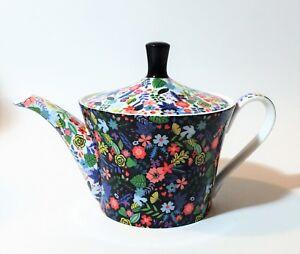 Nouveau-GRACIE-STECHCOL-Multi-couleur-bleu-vert-jaune-floral-Cafe-The-Pot-Theiere