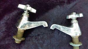 ancien robinet baignoire lavabo t¨te porcelaine art déco loft